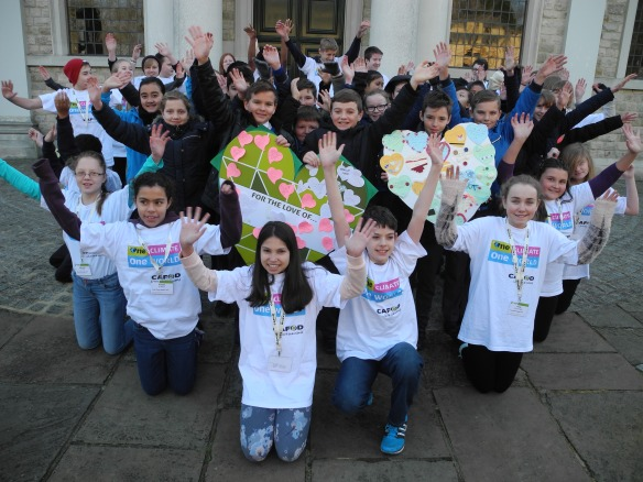 Young CAFOD supporters launch the One Climate, One World campaign for schools at Brentwood Cathedral