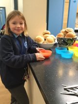 st-catherines-pupil-enjoying-soup-made-for-harvest
